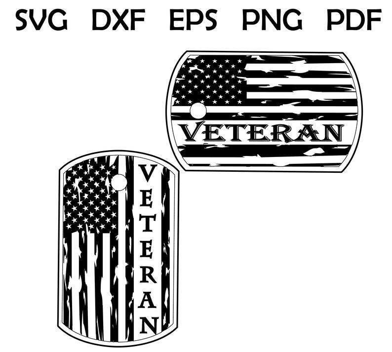 Dog Tags Svg Military Dog Tag Us Flag Cricut Silhouette Dog Tags Military Svg Dog Tags