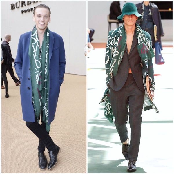 Jamie Campbell Bower at Burberry Prorsum Spring Summer 2015 womenswear show http://www.whats-he-wearing.com/2014/09/jamie-campbell-bower-at-burberry-prorsum-womenswear-spring-summer-2015-LFW.html