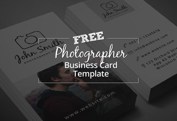 Freebie Minimal Photographer Business Card PSD Template - Photography business cards templates
