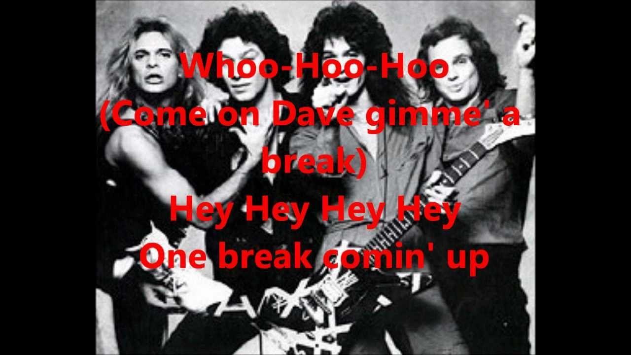 Van Halen Unchained Lyrics Van Halen Halen Lyrics
