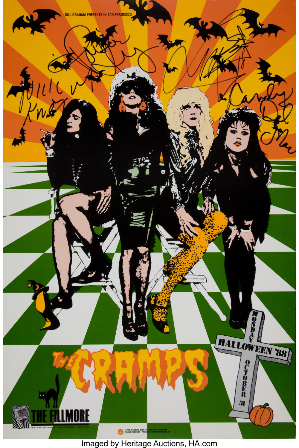 Halloween 2020 Autographed Poster World's Largest Collectibles Auctioneer in 2020 | Punk poster