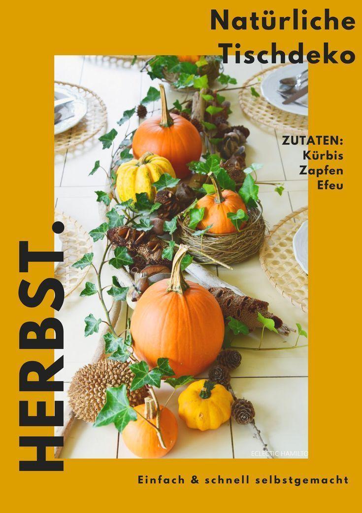 Herbstliche Tischdeko mit Kürbis, Efeu und Zapfen. Natürlich dekorieren und basteln. Herbstdeko für den Tisch und Konsole. Einfach selbermachen mit Kürbissen - #dekorieren #herbstliche #kurbis #naturlich #tischdeko #zapfen - #Genel #herbstlichetischdeko Herbstliche Tischdeko mit Kürbis, Efeu und Zapfen. Natürlich dekorieren und basteln. Herbstdeko für den Tisch und Konsole. Einfach selbermachen mit Kürbissen - #dekorieren #herbstliche #kurbis #naturlich #tischdeko #zapfen - #Genel #herbstlichetischdeko