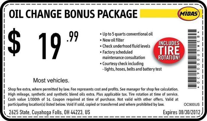 Midas Brake Coupons >> Midas Oil Change Coupons Top Car Release 2020