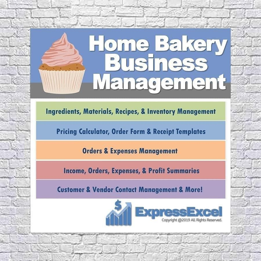 Cake Bakery Business Spreadsheet This Easy To Use Spreadsheet Template Makes It Simple To Manage Your Orders Home Bakery Business Bakery Business Home Bakery