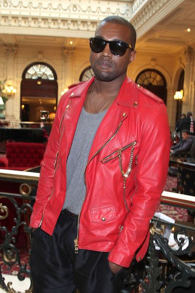 Kanye West Kanye West Red Leather Jacket Leather Jacket