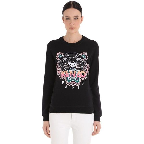Kenzo Women Tiger Embroidered Cotton Sweatshirt (935 SAR