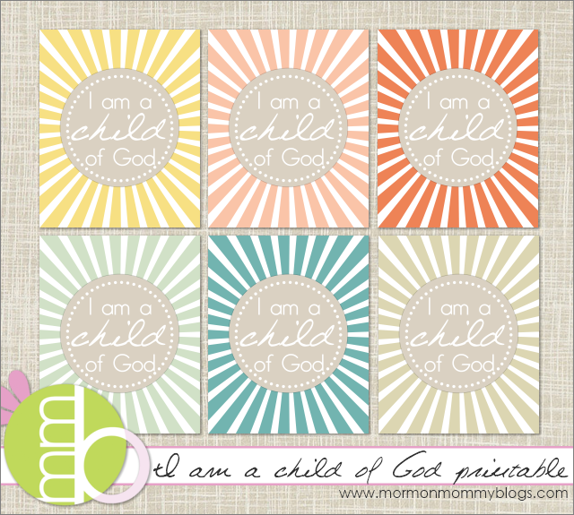 Printing this for our home. This is the LDS primary theme for 2012. :)