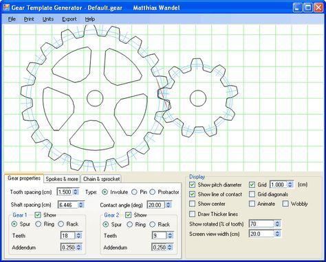Gear template generator program  Cogs  Gears  Mechanics  Machines