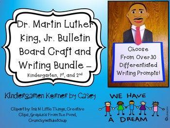 Dr Martin Luther King Jr Bulletin Board Set Craft Writing K 1 2