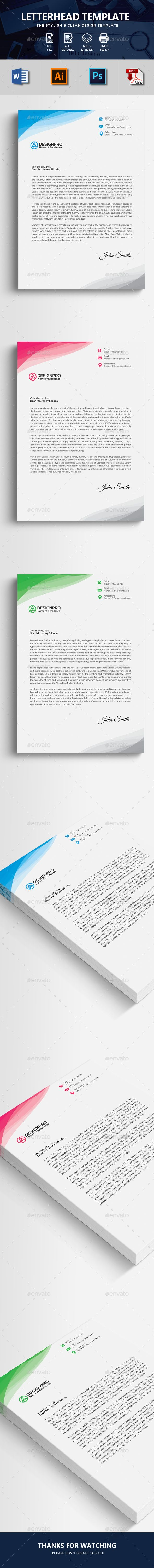 Free Microsoft Word Letterhead Templates Awesome Letterhead Template  Pinterest  Green Landscape File Format And Fonts