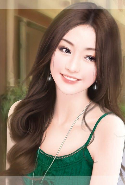 Asiatische Puppe ist schön und wird bedeckt