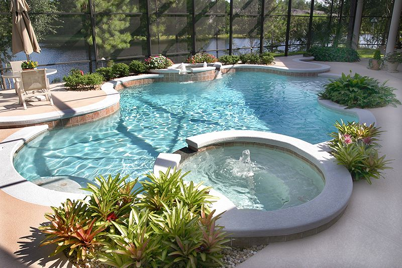 Pool Design And Builder In Orlando Fl Pools By Bradley Pool Resort Style Pool Backyard Pool