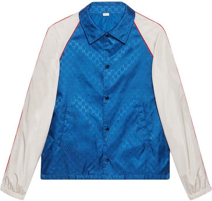 a37b5247b Gucci GG Jacquard Nylon Jacket | Products | Jackets, Tracksuit ...