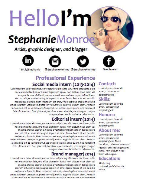 e2b4be19d8951bfcd19613ece87b6119--job-seekers-cover-lettersjpg - social media resume