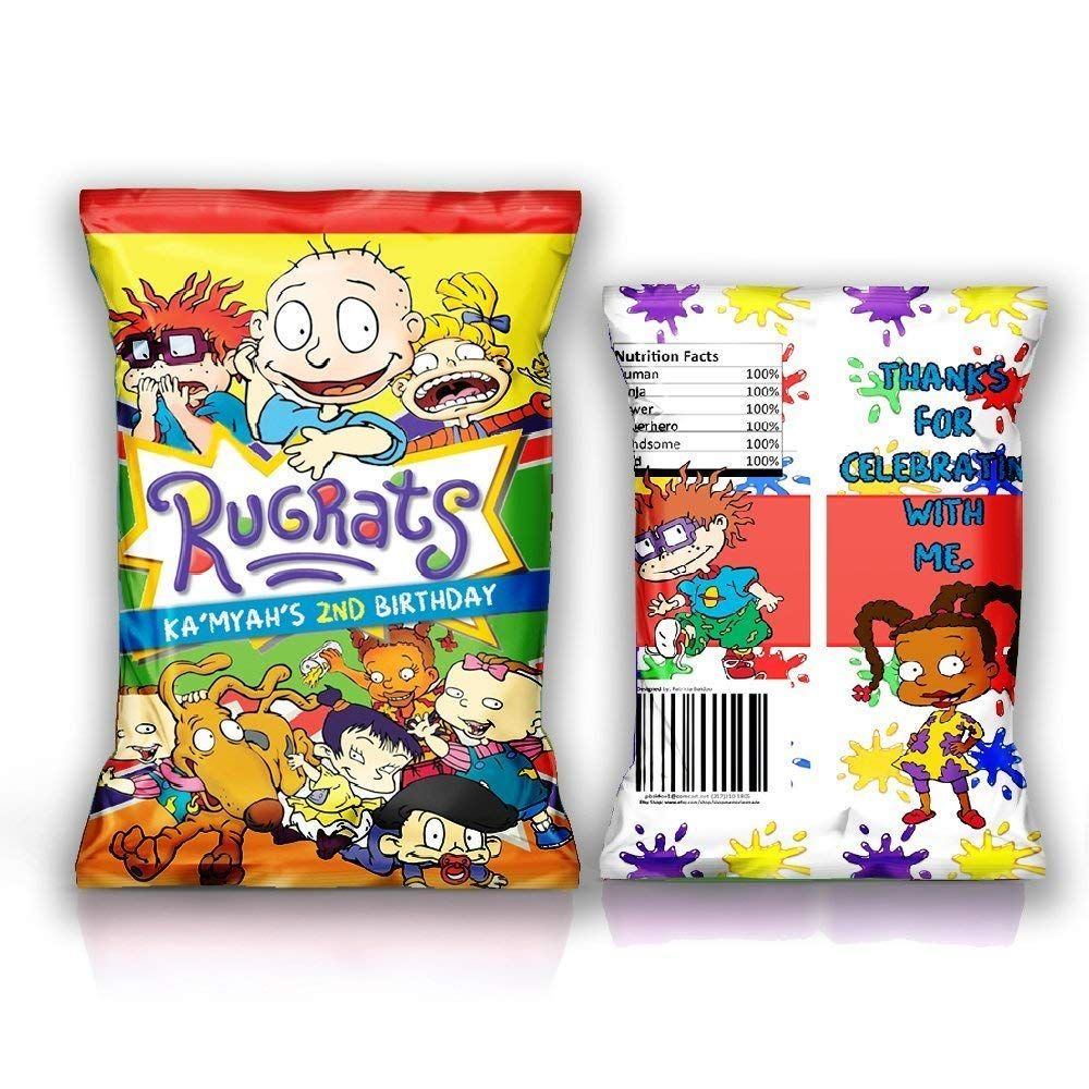 12 Personalized Chip Bags Birthday