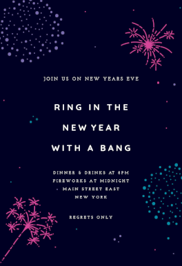 Pin On New Year S Eve Invitations Template