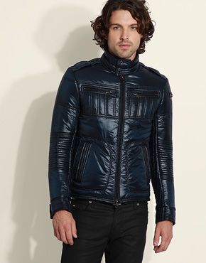ASOS | Online Shopping for the Latest Clothes & Fashion. Daniele  Alessandrini Quilted Articulated Sleeve Jacket