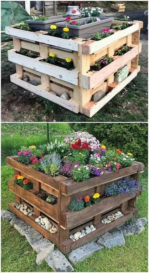 Jardiniere Palette Diy Garden Projects Pallets Garden Garden Projects