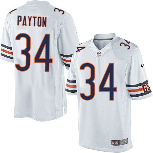 81598f12914 Nike Limited Walter Payton White Men's Jersey - Chicago Bears #34 NFL Road
