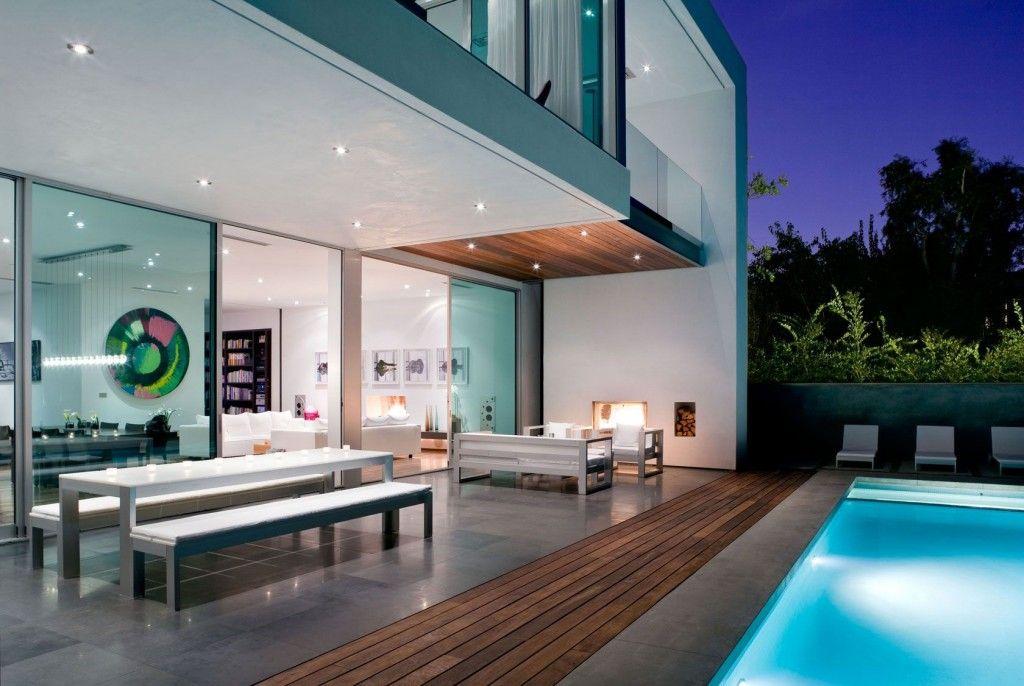 Dise o de moderna casa de dos pisos m s planos fotos de - Diseno de piscinas modernas ...