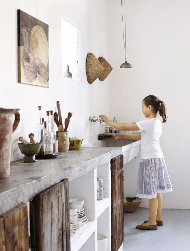 Kuchnia Z Betonowym Blatem Concrete Countertops Kitchen Stylish Kitchen House Interior