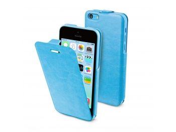 Muvit® iFlip cuir à clapet bleue iPhone 5C