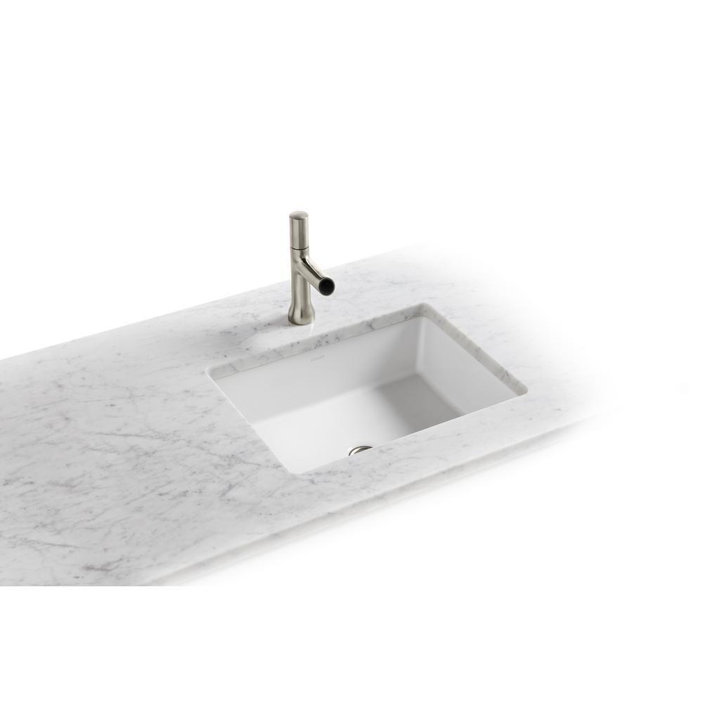 Kohler Verticyl Vitreous China Undermount Bathroom Sink In White With Overflow Drain K 2882 0 Undermount Bathroom Sink Sink Nautical Bathroom Mirrors
