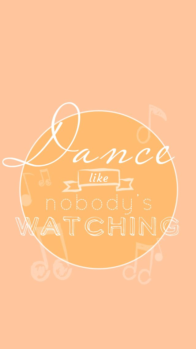 Dance Quote Peach Iphone Lock Wallpaper At Panpins Iphone Wallpapers