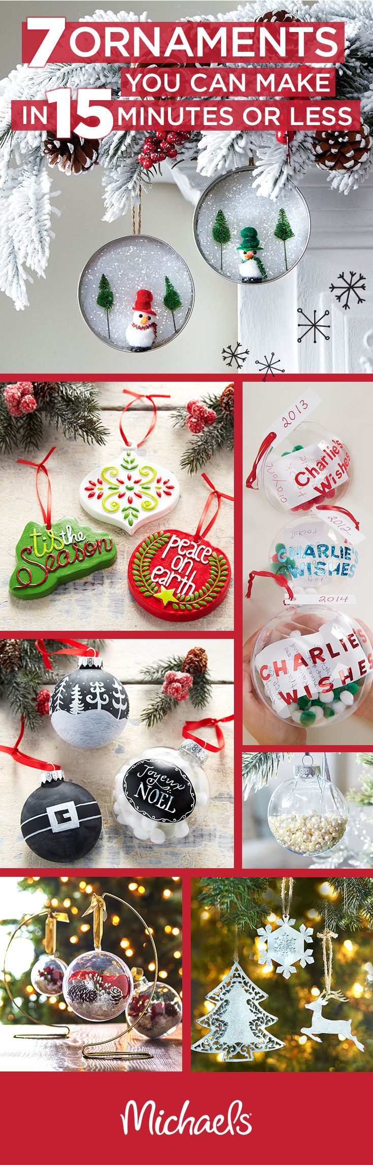 Handcrafted Ornaments Are A Great Way To Add A Special Touch To Your Tree But It Doesn T Have To Take You Fo Xmas Crafts Christmas Diy Diy Christmas Ornaments