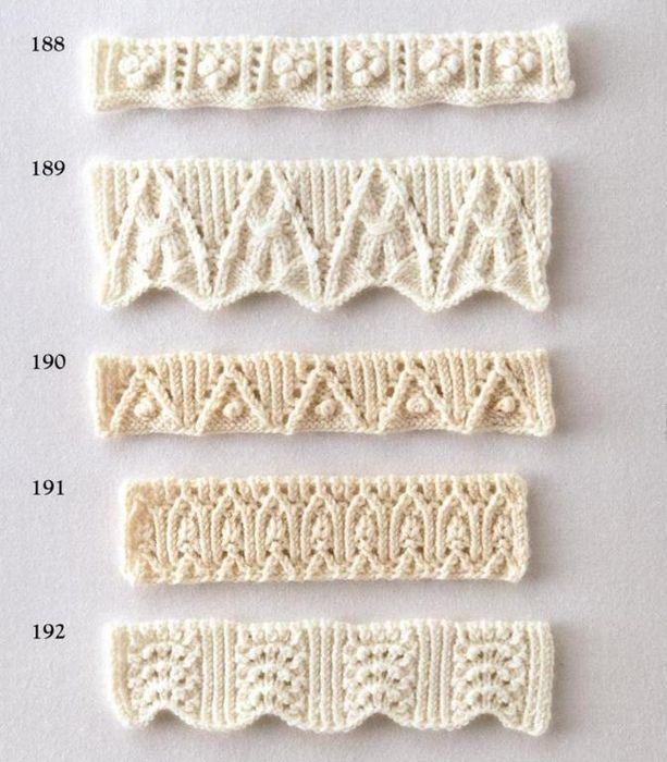 Una hermosa colección de patrones para el diseño de radios de borde ...