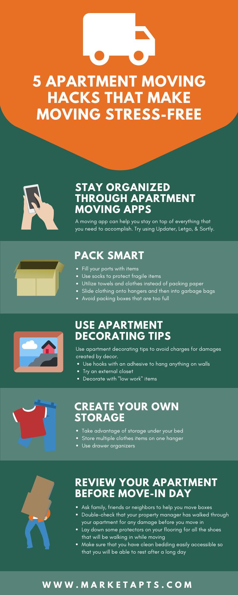 Top 5 Apartment Moving Hacks That Make Moving Stress-Free ...