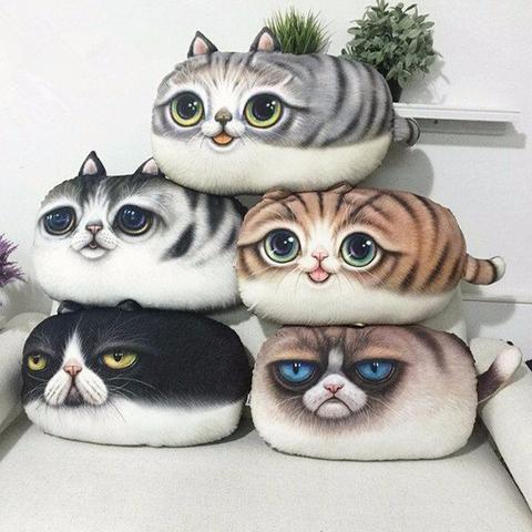 3D Cat Emoji Pillows* 5 Styles   Emoji Pillows   Cat cushion