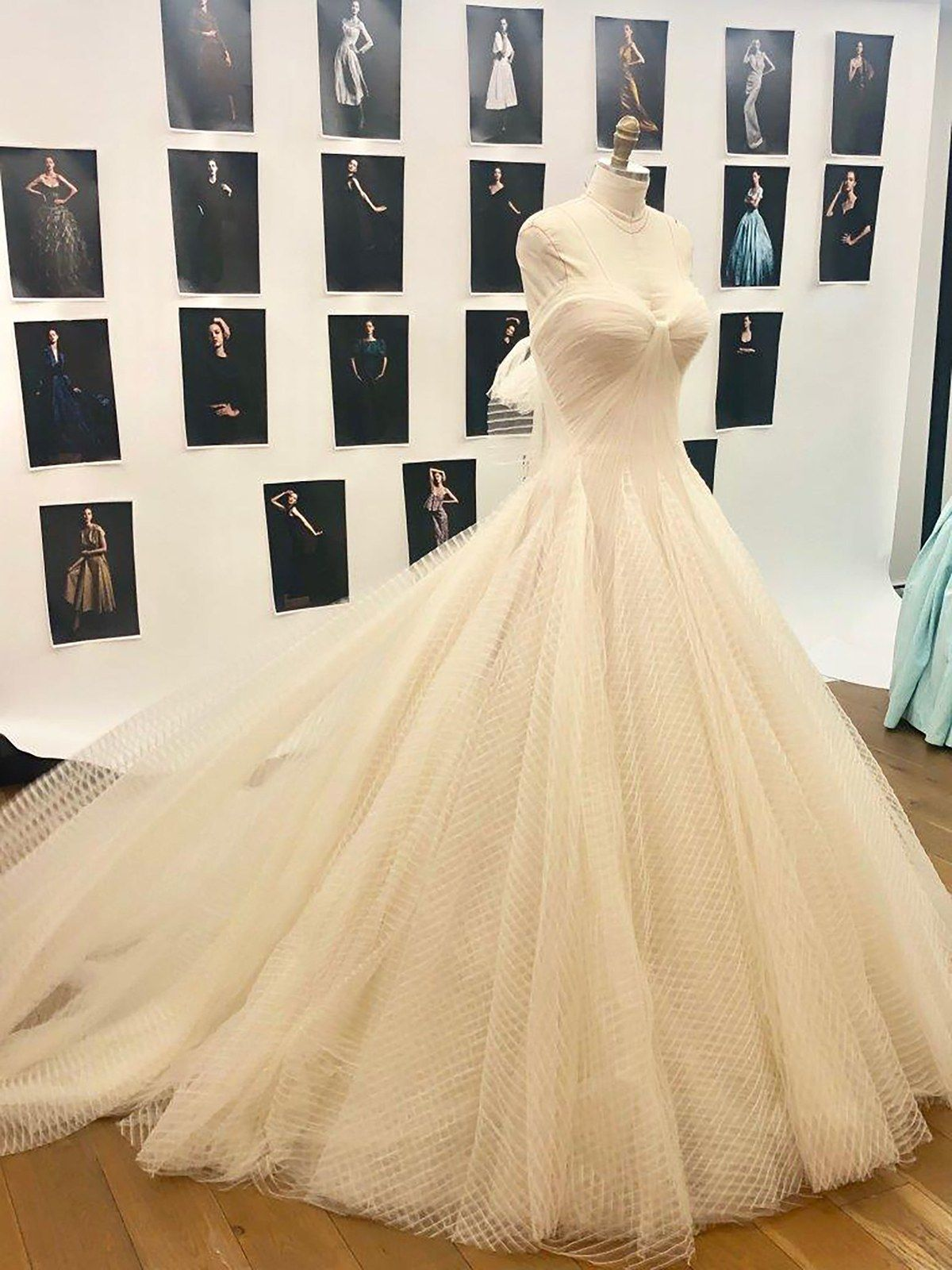 An Exclusive Look Inside Katharine Mcphee And David Foster S Wedding In London Zac Posen Wedding Dress Zac Posen Wedding Gowns Wedding Dresses