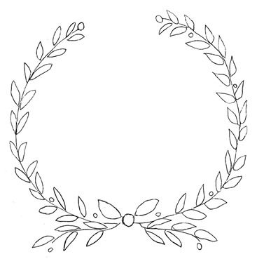 Free printable laurel olive wreath design for furniture for Laurel leaf crown template