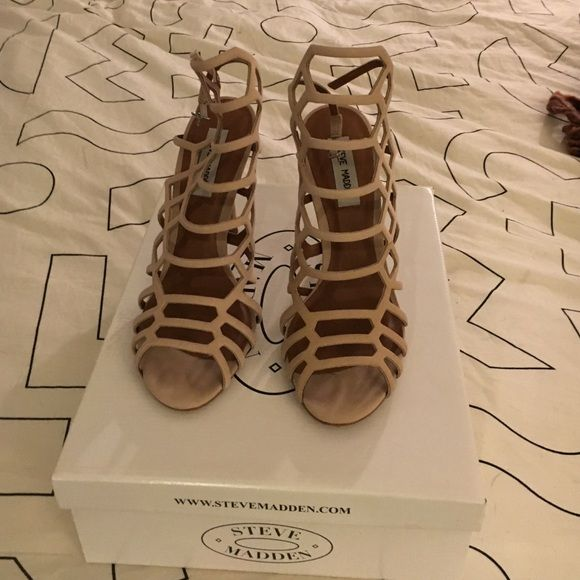 Steve Madden heels Steve Madden blush heels worn once for a wedding Steve Madden Shoes Heels