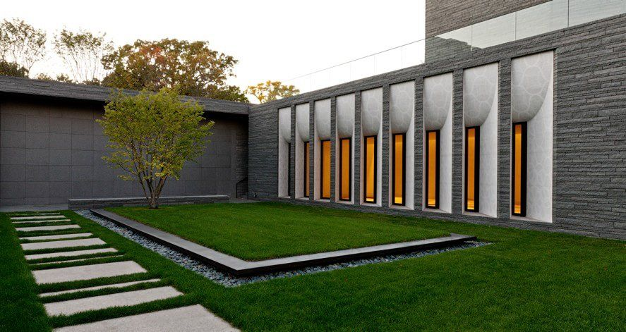 Lakewood cemetery s garden mausoleum by hga architects for Minimalist landscape design