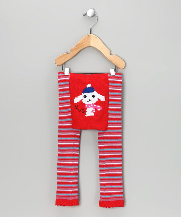 Look at this Red Stripe Poodle Pants - Infant on #zulily today!