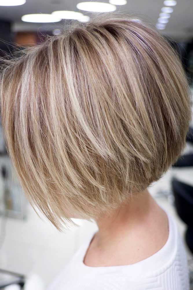 Short Bob With Highlights Picture2 Hair Styles Blonde Bob Hairstyles Thick Hair Styles