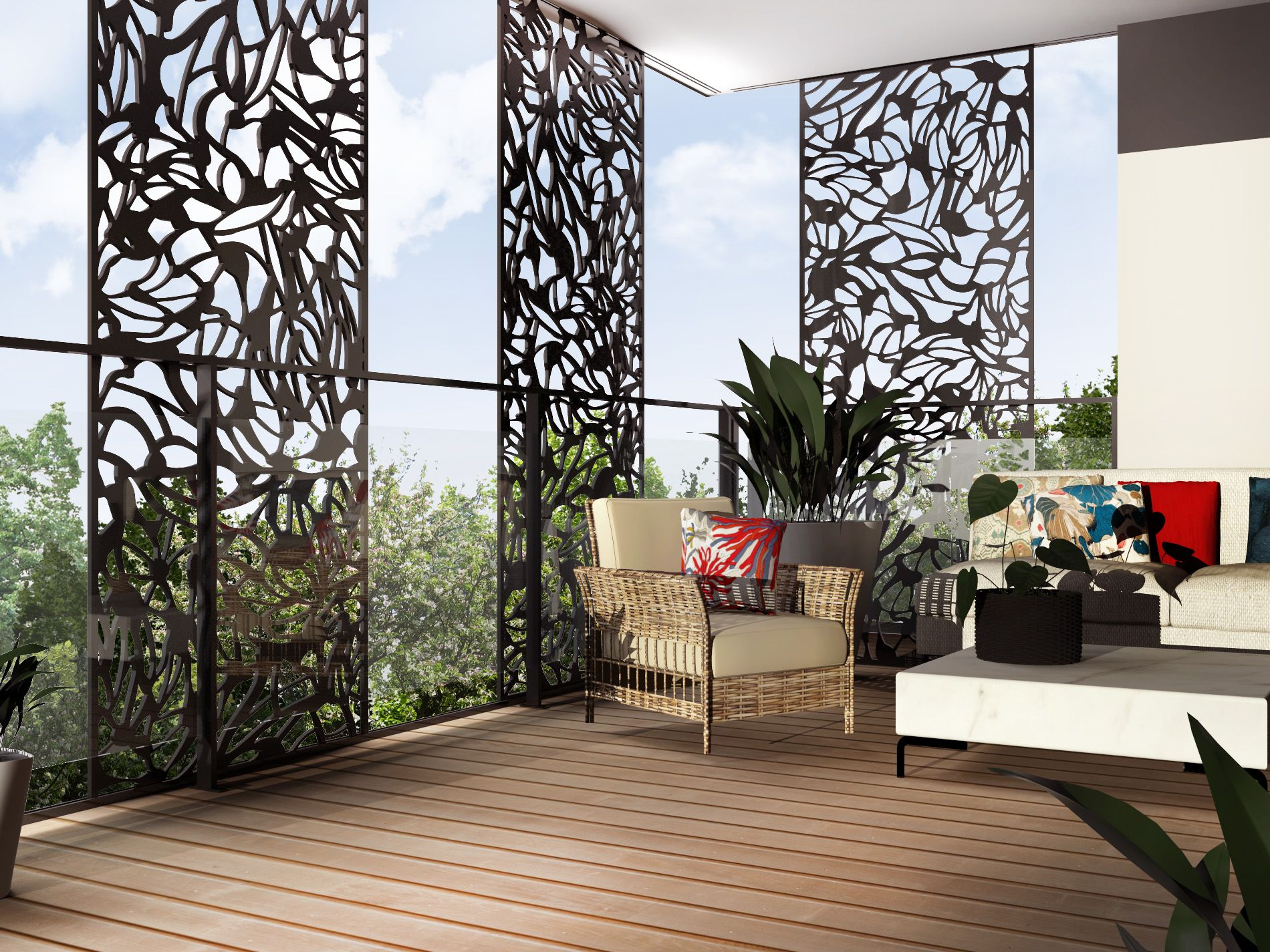 claustra d corative balcon terrasse brise vue. Black Bedroom Furniture Sets. Home Design Ideas