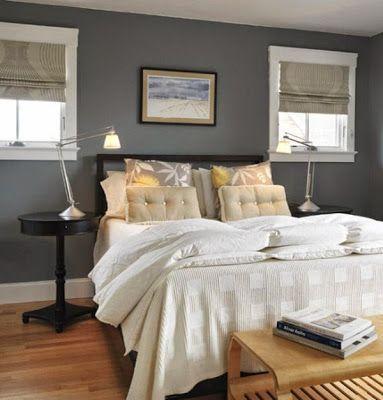 احدث صور وإشكال لديكورات دهانات الحوائط لغرف النوم باللون الرمادي الرصاصي Gray Bedroom Walls Grey Walls Living Room Grey Colour Scheme Bedroom