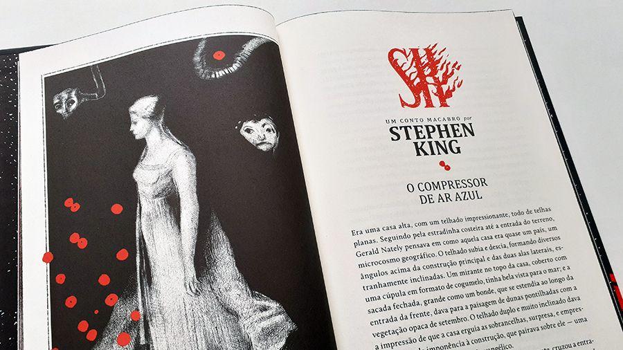 Detalhe do conto O compressor de ar azul, com ilustração de Odilon Redon.