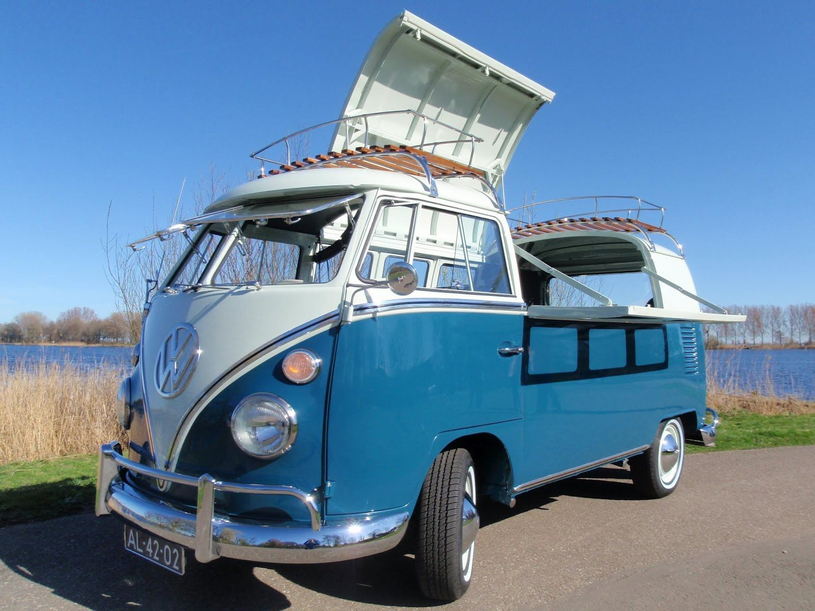 Vw flaptop i have never seen one like this would this be stock or customized volkswagen bus