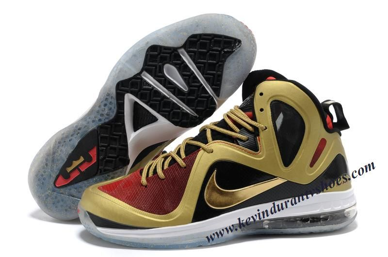 outlet store aa4a8 b7c1b Nike Lebron 9 P.S. Elite Gold Black Red