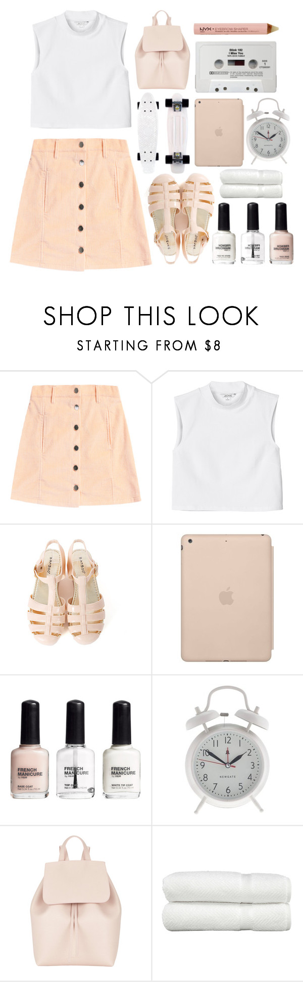 """""""//I'll come running to you//"""" by little-miss-marie ❤ liked on Polyvore featuring Monki, Black Apple, H&M, J.Crew, Mansur Gavriel, Linum Home Textiles and NYX"""