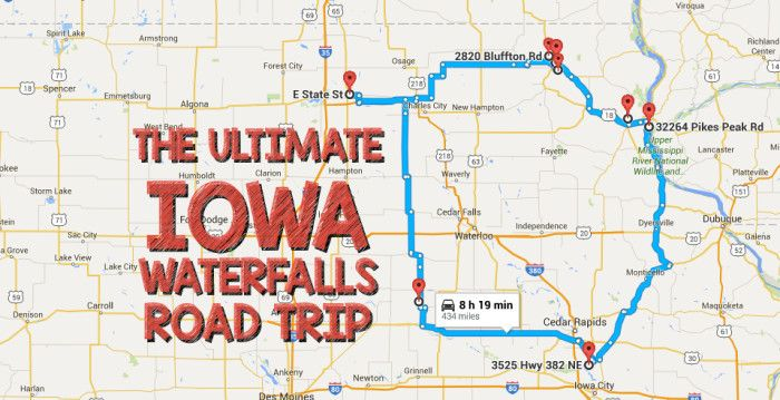 Bentonsport Iowa Map.The Ultimate Iowa Waterfalls Road Trip Is Right Here And You Ll