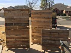 Image Result For How To Build A Free Standing Pallet Wall Pallet Wall Free Standing Wall Diy Pallet Wall