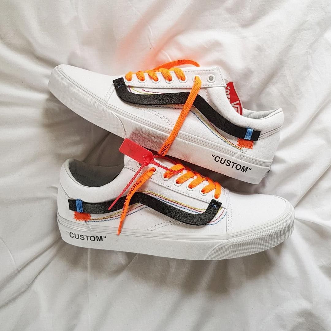1790e9c2fb Vans Old Skool OFF WHITE custom