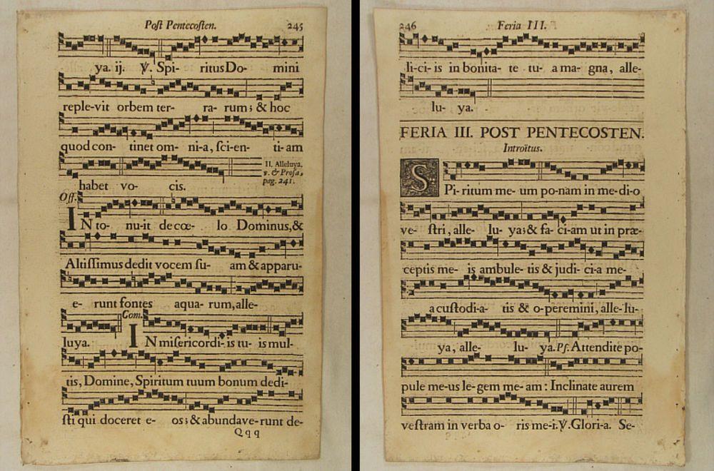 Musik Noten Neumen Riesen Notenblatt Um 1690 Mittelalter Lieder Singen Choral Notenblatt Noten Musiknoten