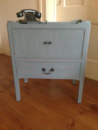 Repurposed Vintage Side Table $100 - Lunenburg http://furnishly.com/catalog/product/view/id/2405/s/repurposed-vintage-side-table/