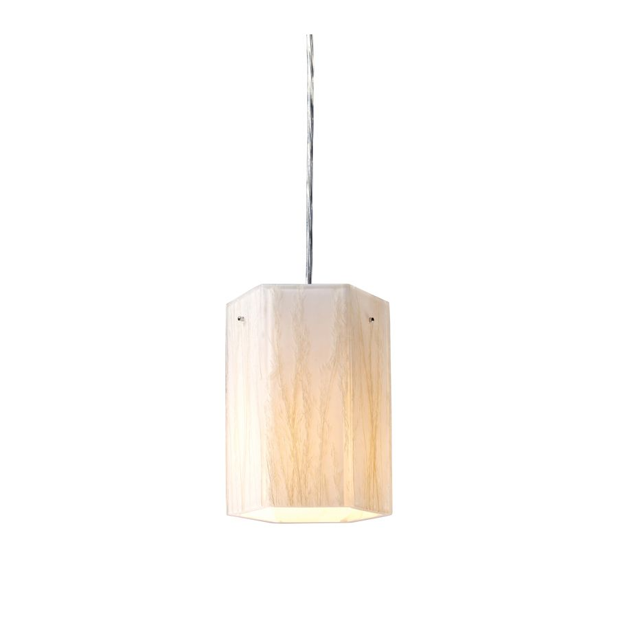 Westmore lighting in polished chrome mini textured glass cylinder